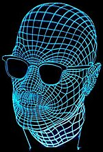 BiuTeFang 3D Nachtlicht Männer mit Brille 3D-bunten Touch-LED sichtbaren Licht Geschenk Atmosphäre Lampe leuchte