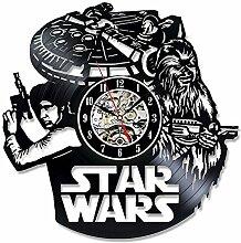 BiuTeFang Wanduhr Schallplatten Vinyl Star Wars