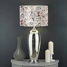Biyejit Runder Lampenschirm mit Blumen, für