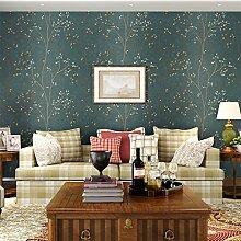 BIZHI Klassische Tapeten Art-Deco-europäischen Stil Wand abdecken Vlies Papier Wandkunst,Dunkelgrün