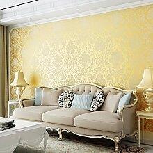 BIZHI Moderne Tapeten Art-Deco-3D einfache moderne Tapete Wandverkleidung Vliesstoff Wandkunst,Golden