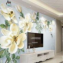 BIZHIGE 3D 3D 3D Blumen Fototapete Wandbild Für