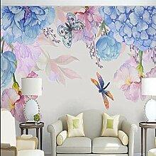 BIZHIGE 3D Fototapete Blumen Wandbild Für