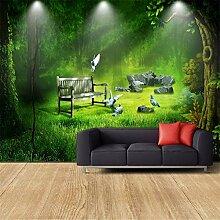 BIZHIGE 3D Moderne Benutzerdefinierte Wald Tapete
