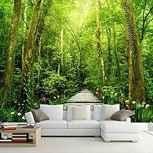 BIZHIGE 3D Natur Wald Blume Fototapeten Fototapete