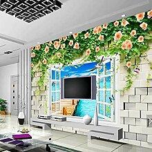 BIZHIGE 3D Wandbild Fototapete Malerei 3D Küche