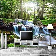 BIZHIGE 3D Wandbild Wasserfall Natur Wald Tapete