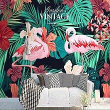 BIZHIGE Flamingo Hand Malerei Tropic Tapete