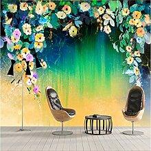 BIZHIGE Große Wand-Dekor Tapete Ivy-Blumen-Tapete