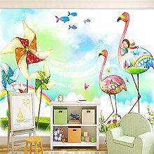BIZHIGE Karton Windmühle Flamingo Kinder