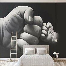 BIZHIGE Schwarz Weiß Faust Fototapete Wandbild