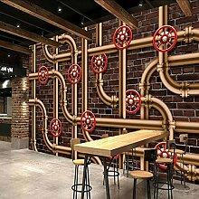 BIZHIGE Wandtapete der Weinlese 3D Dekorative