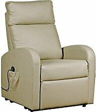 Bizzotto Lift Sessel Dichte 9kg/m3, System von Reclining und Aufstehhilfe mit Steuerung Elektro, Eisen, Taupe, 73x 80x 65cm