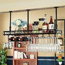 BJLJJ Wand-Weinregal Flaschenhalter mit