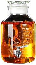 BJLNJP Glas Getränkespender Einmachglas mit