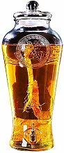 BJLNJP Glas-Getränkespender mit Zapfen Und Deckel