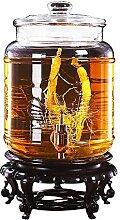 BJLNJP Runder Glas-Einmachglas-Getränkespender