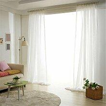 BKFF® Vorhang Mode Tüll Vorhang Fenster Bildschirm Jalousien schiere Vogel Gauze Vorhang Cafe Küche Vorhang Wohnzimmer Balkon 1 Stück , white , 2.5*2.7m