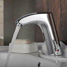 BL Chrom-Finish Messing Waschbecken Wasserhahn mit automatischer Sensor aktiviert (warm und kalt)