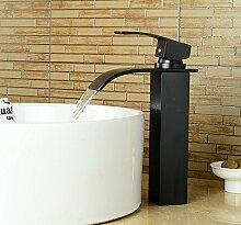 BL Das Kupfer Schwarze Bronze antike Schu00fcssel auf den Tisch der Europu00e4ischen Kunst Keramik - waschbecken MIT kalten und warmen wasserhahn fu00e4llt Bad.