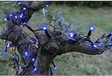 Blachere JFS019B LED Solar-Lichterkette 100'er blau 8 Funtionen 10m