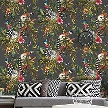 Black and Multi Lemur Tapete World of Wallpaper