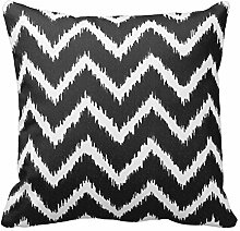 Black and White Chevron Pillow Square 18*18 Inch Pillow Case Covers