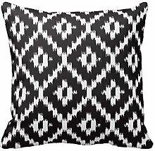 Black and White Ikat Pattern Pillows Decorative Cushion Cover Pillowcase