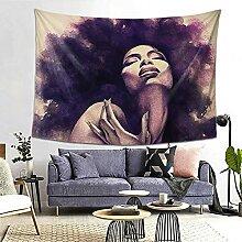 Black Art African American Women Lady Hippie Afro