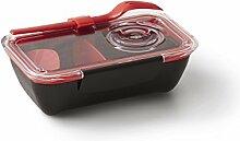 Black+Blum Bento Box - Lunch Box Schwarz/Ro