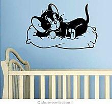 Black Cute Cats Cartoon Film Kinderzimmer