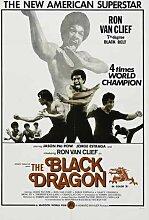 Black Dragon Poster 01 Metal Sign A4 12x8 Aluminium