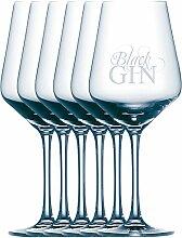 Black Gin Gansloser Glas 6 Stück