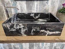 Black Granit Waschbecken 1. Wahl  Maßen 60 x 40 cm