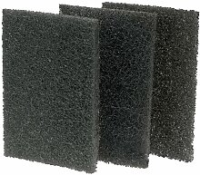 Black Grill Cleaning Pads, Pack of 10