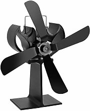 Black Heat Powered 4 Blades Herdventilator Kamin