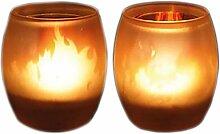 Black Leaf | 90 x 60 mm | 1 Teelicht-Kerze | Glas,
