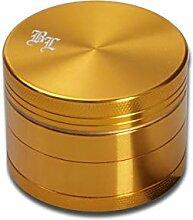 Black Leaf Alu-Mühle 4-TLG. m. Magnet Ø40mm Gold