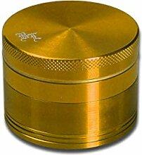 Black Leaf Alu-Mühle 4-TLG. m. Magnet Ø55mm Gold