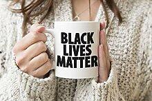 Black Lives Matter Original Weißer Becher Kaffee