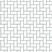 Black & White 6070 Vlies-Tapete treppenartiges Rechreckmuster schwarz auf weiß