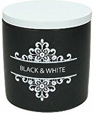Black & White, runde Porzellandose für alles was einem lieb und teuer ist. 11 cm hoch, 670 ml. Volumen, von ANDREA FONTEBASSO