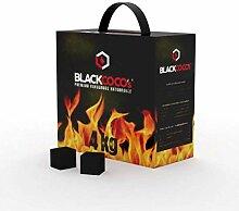 BLACKCOCO's - 4 KG/Shisha Würfel Kohlen &