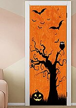 Blackcolor Halloween Tür Tapete selbstklebend
