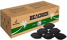 BlackSellig 10 Kg Beachies Kokos Grill Briketts