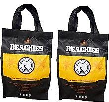 BlackSellig 2 x 2,5 Kg Beachies Kokos Grill