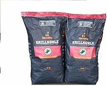 BlackSellig 20 Kg Steakhousekohle reines Quebracho