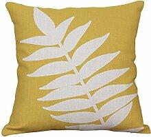 Blätter Pflanzen Einfach Kissenbezüge Leinen Auto Sofa Büro Wohnzimmer Dekoration Kissen (Kissenbezüge Set Mit 2 Stück),D
