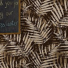 Blätter Wildleder Stereo 3D Tapete Dick Banana Leaf Schlafzimmer Wohnzimmer Wand Tapete, Wallpaper only, Light brown