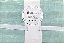Blanc Stoff-Tischdecke, Hellgrün mit gewebten
